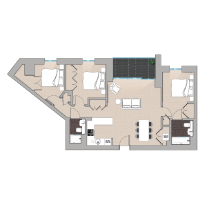 Quintain Living Alameda Floorplan illustrated by Brocklebank Creative Services