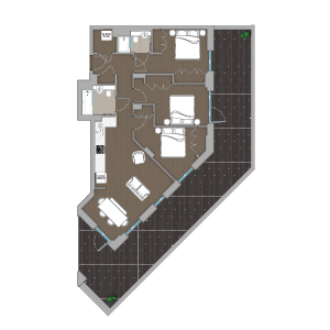 Quintain Living The Robinson Floorplan illustrated by Brocklebank Creative Services