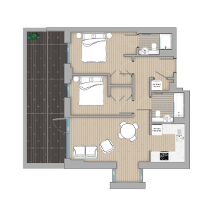 Quintain-Living-Canada-Gardens Floorplan illustrated by Brocklebank Creative Services