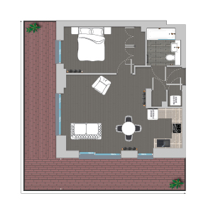 Quintain Living Ferrum Floorplan illustrated by Brocklebank Creative Services