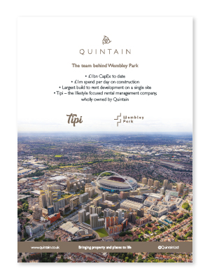 Quintain press advert by Brocklebank Creative Services
