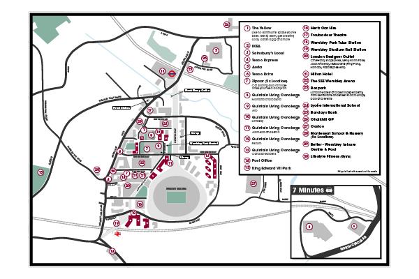 Quintain Living Wembley Park map illustrated by Brocklebank Creative Services