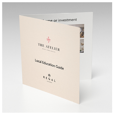 Regal London Atelier local school digital booklet designed by Brocklebank Creative Services
