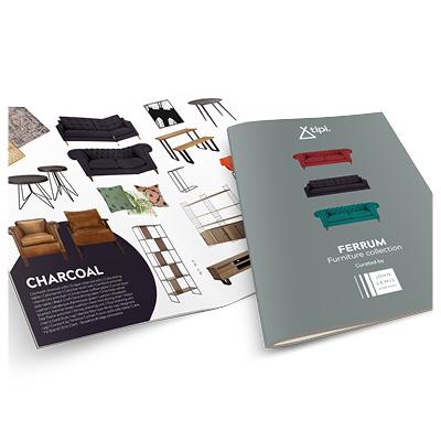 Quintain Living Ferrum Furniture Brochure designed by Brocklebank Creative Services