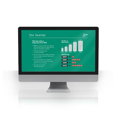 Tipi Homes company presentation designed by Brocklebank Creative Services